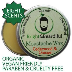 Premium Beard & Moustache Grooming Wax Set Strong Hold Styling Handlebar 15ml