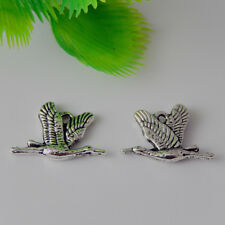 50888 Vintage Silver Alloy Wild Goose Flying South Pendants Charms Crafts 40pcs