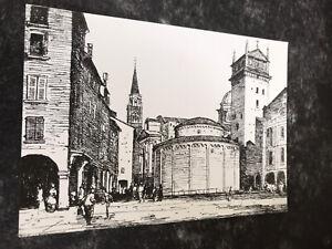 The Rotonda Of San Lorenzo   Mantua. Italy.  Drawing Of 1928.   Art Postcard