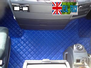 MAN TGX TRUCK ECO LEATHER FLOOR MATS SET-  TILL 67 PLATE - BLUE