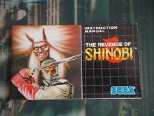 Revenche of Shinobi SEGA MegaDrive Genesis Manual instruction Booklet NO GAME!!