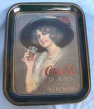 Coca Cola Coke Metal Tray Hamilton King Girl 1912 Replica 1972 Commemorative