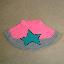 Baby Girl's NEXT Poncho 3-6M Pink Star Knitted Winter