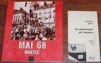 Sarah Guilbaud MAI 68 NANTES + Yannick Guin LA COMMUNE DE NANTES lot de 2 livres