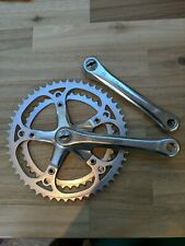 Stronglight chainset 52 / 42 1980s Good Condition. French threaded!