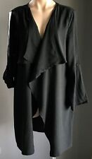 New With Tags Black SUITE BOUTIQUE Waterfall Jacket Size 18 RRP$89.95