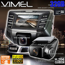 Twin Dashcam Camera 32GB Dual In Car Cam B70S Plus Crashcam Blackbox 1080P