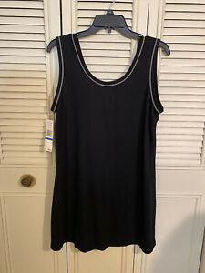 NWT Jones NY Intimates Womens Black Jersey Short Nightgown Sleeveless Sz XL NWT!