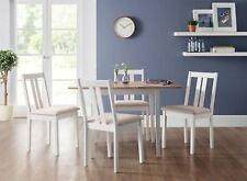 Julian Bowen Rufford Square Ivory Dining Set Extending Solid Wood Table 4 Chairs