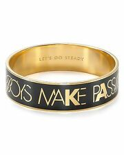 Kate Spade Boys Make Passes GLASSES Bangle NWT GEEK CHIC Nod to Dorothy Parker