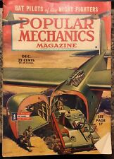 POPULAR MECHANICS MAGAZINE 1944 DECEMBER TANK PLANE SANTA CLAUS BAT PILOTS