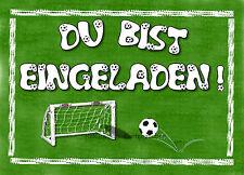 8 Einladungskarten Fußball Jungen Geburtstag Kinder Kindergeburtstag  Einladungen