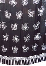 Sarongs sarong paréo Noir Blanc Jupe portefeuille foulard serviette NEUF