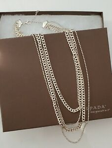 Silpada 925 Sterling Silver High Authority 4 Strand Chain Necklace N3025
