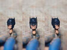 """Painted Service 1/12 Scale Blue Batman Head Sculpt fit 6"""" Figure DC Mez One:12"""