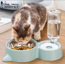 Cat Dog Automatic Double Puppy Pet Water Food Feeder Dish Bowls Fountains Pet