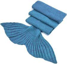 Laghcat Mermaid Tail Blanket Crochet Lake BlueTurquoise Purple w/Bag Girls Kids