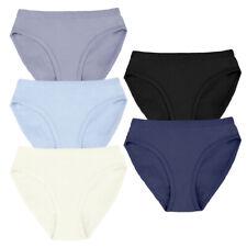 Damen Unterwäsche 3x/5x Taillenslip Modern Schlüpfer Unterhosen Einfarbig