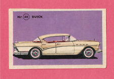 Buick Vintage 1950s Car Collector Card from Sweden
