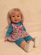 "14"" Famosa Baby Doll That Winks Wearing All Original Cloths"