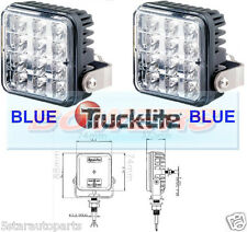 PAIR OF TRUCK LITE VARIPOD 12V24V 12LED BLUE HAZARD/WARNING LAMPS/LIGHTS