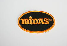 Vintage Midas Muffler Repair Shop Automotive Car Cloth Patch New NOS 1980s