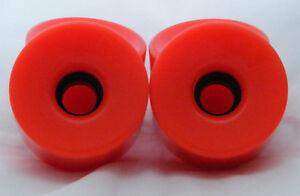 Set de roues oranges 76mm pour longboard