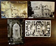 BASILICA DE GUADELUPE MEXICO CITY 4 Photo Postcards 1942 U.S. CENSORSHIP Cancel