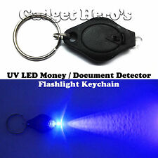 UltraViolet UV LED Fake Money / Currency Notes & Documents Detector Key Chain B
