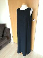 Ladies SARA NEAL Dress Size 14 16 Black Long Maxi Party Evening Cruise Occasion
