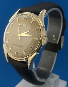 Men's Vintage 14 K Gold Bulova Automatic Watch.FREE PRIORITY SHIPPING.