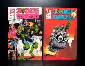 COMICS: Quality Comics: Judge Dredd #16-17 (1988, vol 2) - RARE