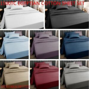 King/Queen/Double Bed 1500TC Extreme Soft Egyptian Cotton Collection Sheet Set