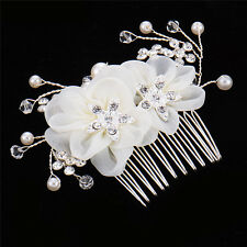 Small Flower Crystal Rhinestone Bridal Tiara Crown Hair Comb Wedding Accessory