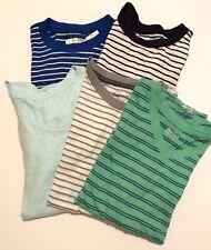 Lot of 5 Gap Kids & Children's Place Striped Shirt Short Sleeve Boys M 8 euc