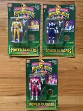 Bandai Mighty Morphin Power Rangers Lot Auto Morphin Kimberly Billy And Trini