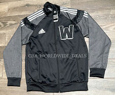 NEW Adidas NBA All Star 2014 NOLA Team West Black Warmup Jacket Men's Size Large