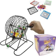 Deluxe Bingo Game w/Cards, Chips, Cage, Balls, Board & Instructions for 12 games
