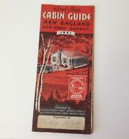 New England Cottages Road Map Cabin Guide 1951 Vintage New York Quebec Canada