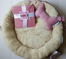 3 pc. Dog Bed Gift Set Honoring National Breast Cancer Foundation