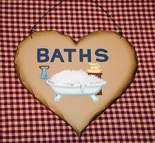 Rustic Bathroom Plaque Bath Sign Vintage Clawfoot Tub