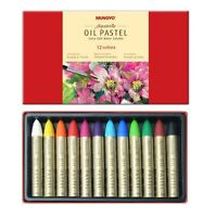 Mungyo  Extra Soft Water Soluble Oil Pastels Set of 12 - Assorted Colors