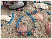 Iléké & Ídè Yemoja | Collar y Pulsera para Yemaya
