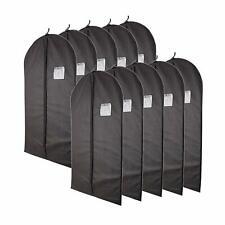 "40"" Black Garment Bags set of 10 with Transparent Window Storage Suits Dresses"