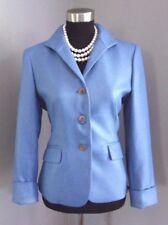 Women's Jones New York Suit Jacket Sz 4 Blue Dress Casual Pleated back Blazer S