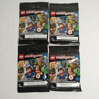 Lego Minifigures DC Super Heroes 71026 Lot of 4 Sealed Blind Bags Unsearched New