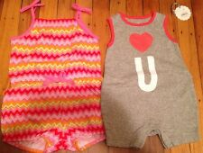 2 Piece Baby Infant Girl Rompers Jumpers 0-3 & 4-6 Months GAP H&M New Clothes