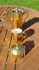 Elegant Royal Worcester All Gold Porcelain tea /coffee Pot Milk jug and  Jam Pot