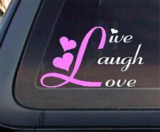 Live Laugh Love Car Decal / Sticker (451-1)