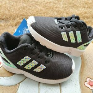Adidas ZX Flux BLACK Girls' BRAND NEW Toddler 6C
